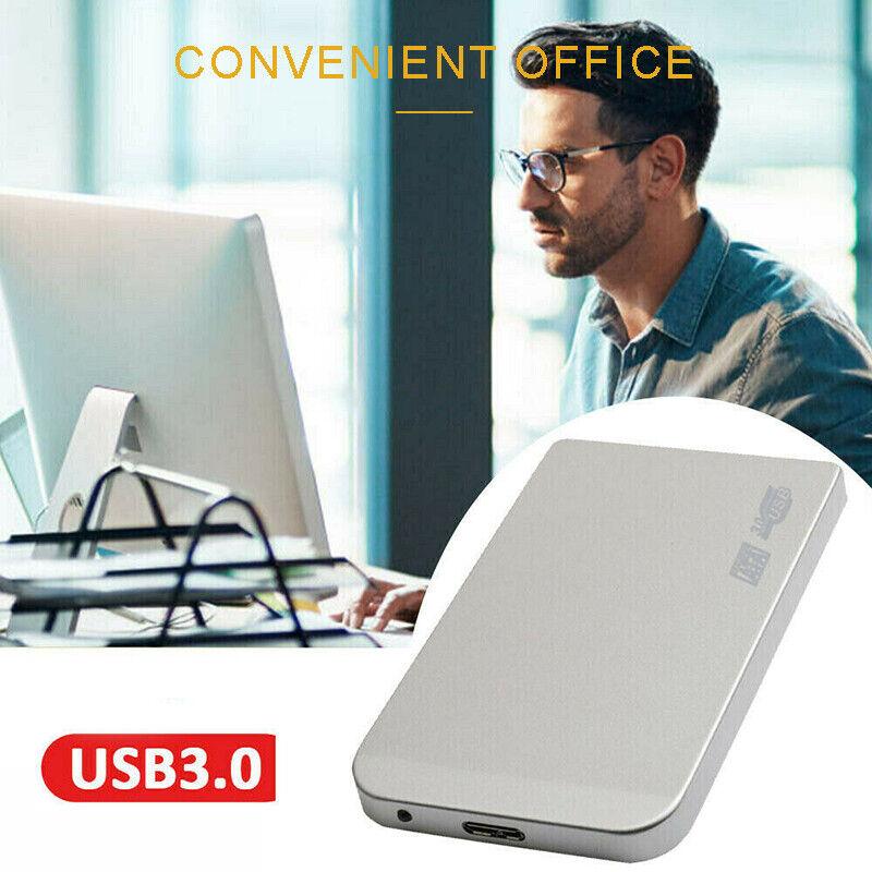 USB 3.0 2TB SATA SSD External Hard Drive Portable Desktop Mo