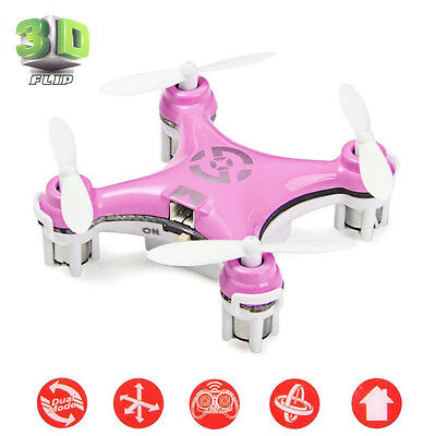 UK Genuine Cheerson RC Quadcopter Mini CX10 6 axis 2.4GHz LED RTF Drone Pink