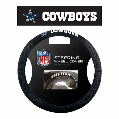 Dallas Cowboys Nfl Poly-Suede Steering Wheel Cover