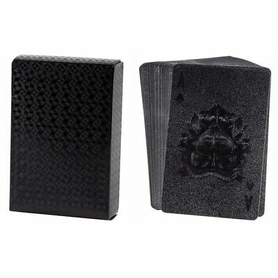Waterproof Playing Cards, 2 Standard Decks of Luxury Black Plastic Poker Cards Playing Cards 2 Decks