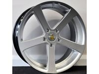 """19"""" Cades Apollo SMF Alloy Wheels & Tyres. Suitable for most Audi A4, A5 & A6 (5x112)"""