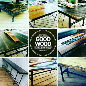 Reclaimed and ethically sourced wood furniture and decor