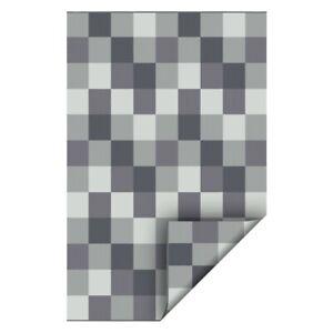 Tapis extérieur réversible ou non 5 X 7 ou 6 X 8 gris durable UV