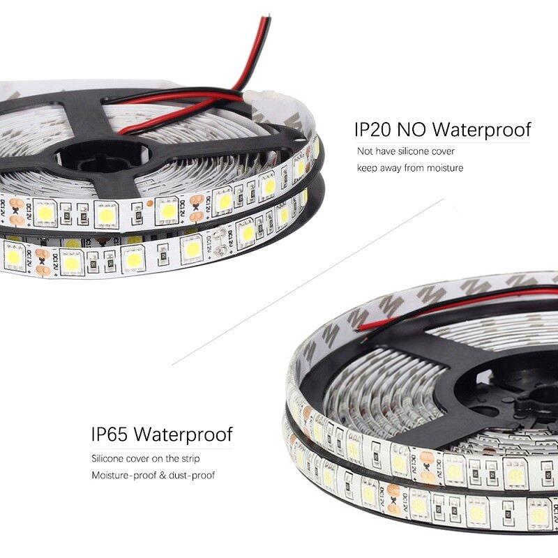 12V 24V LED SMD 5050 Streifen Stripe Weiss Kalt Leiste Band dimmbar 10.8W//m IP20