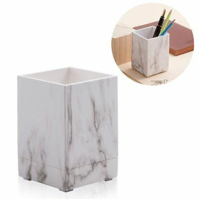 Desk Organizer White Marble Pen Holder Stationery Office Home Container Storage