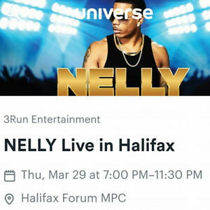 NELLY PRE SALE TICKETS FOR CONCERT! March 29,2018