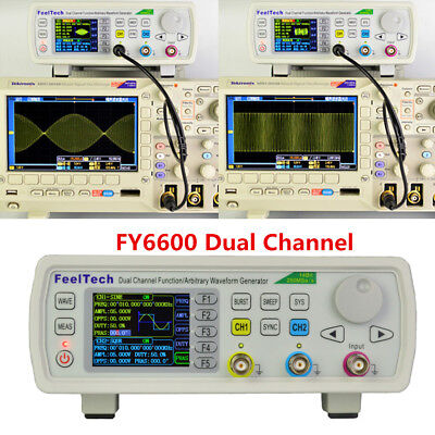 Feeltech Fy6600 15-60mhz Dds Function Signal Generatorsource Arbitrary Waveform