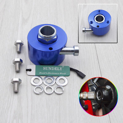 "Aluminum Steering Wheel Quick Release Disconnect Hub 3/4"" Shaft Size Blue"