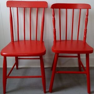 TORCH RED Chairs ANTIQUE Vintage
