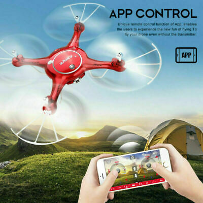 App RC Camera Drone HD Wifi FPV Headless Mode Quadcopter Altitude Hold X5UW US
