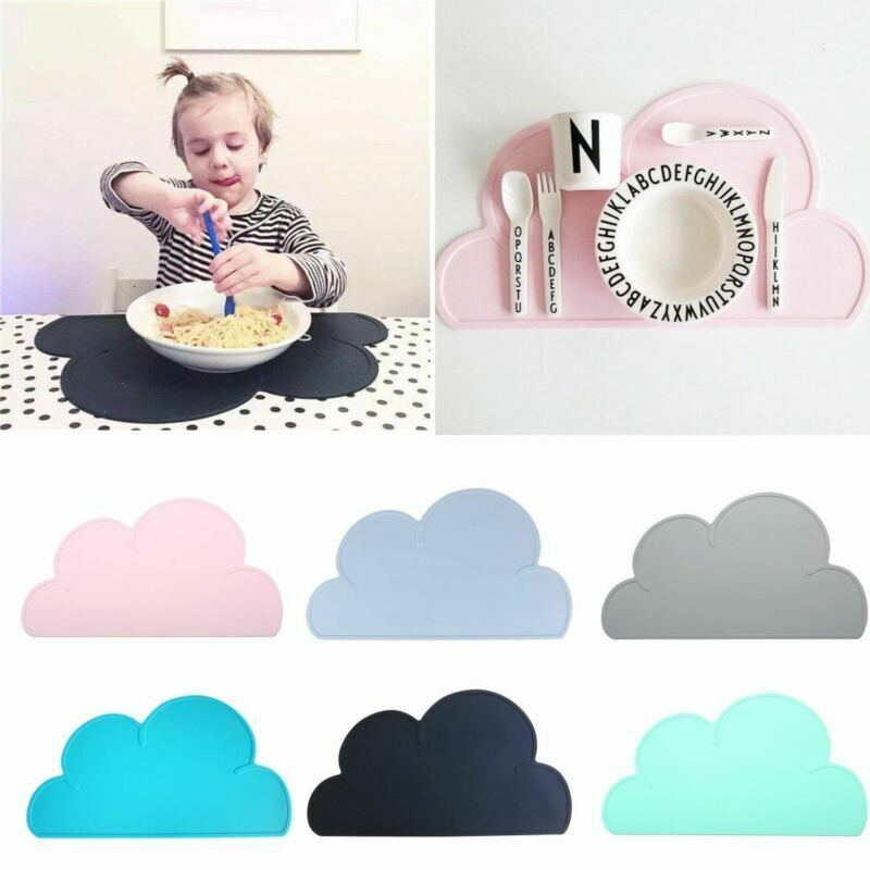 Silicone Insulation Pad For Kids Dining Table Kitchen Cloud