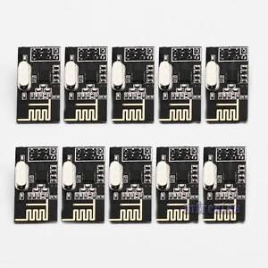 10pcs New NRF24L01+ 2.4GHz Antenna RF Wireless Transceiver Module for Arduino US