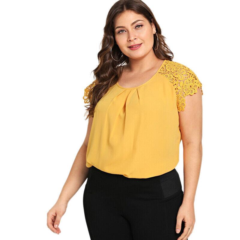 New Plus Size De Fiesta Blusas Xl Tops De Mujer De Moda Tallas Grandes Elegantes Ebay