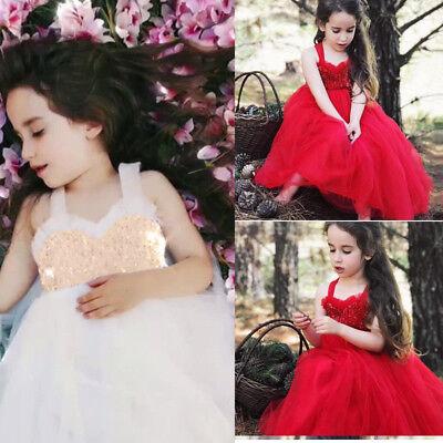 Flower Girl Pageant Party Formal Wedding Bridesmaid Princess Tutu Dress for - Dresses For Girls Wedding