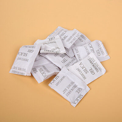100 Packs 1g Silica Gel Packets Desiccant Sachets Small Gram Absorber Hot Sale