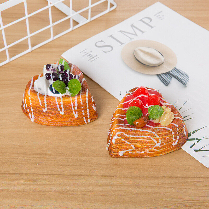 Fake Foods Artificial Bread  Fridge magnet Dessert Display Photography Props Toy