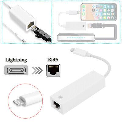 8pin Lightning to à RJ-45 Ethernet LAN Réseau câble adaptateur pour iPhone iPad