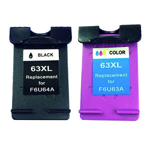 HP 63XL Remanufactured Ink Cartridge High Yield Combo Set
