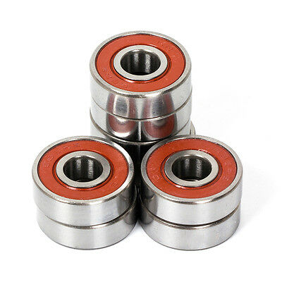 Skateboard Bearings ABEC 9 608 for Fidget Spinner Chrome Steel Red 8 Pcs