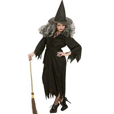 WOW Hexen Kostüm Damen schwarze Hexe Kleid Gr. S M oder L Zauberin - Schwarze Hexe Kleid Kostüm