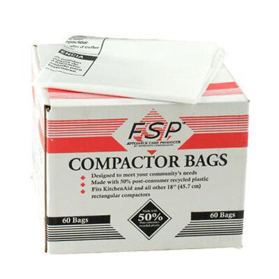 "KitchenAid KCB-18 FSP Compactor OEM Bags All 18"" Trash Comp"