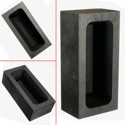 85oz Gold / 46oz Silver Square Rect Graphite Mold Crucible For Melting Casting
