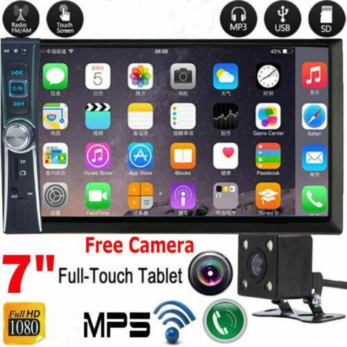 "1080P HD Bluetooth Car Stereo Radio 2 DIN 7"" HD MP5 FM Playe"