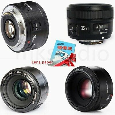 YONGNUO YN 35mm/50mm EF AF/MF Prime Fixed Lens for Nikon Canon with Clean Paper