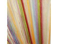 "Multi coloured- Rainbow Spaghetti curtains 5 x 150cm x 300cm drop 60"" x 118"""