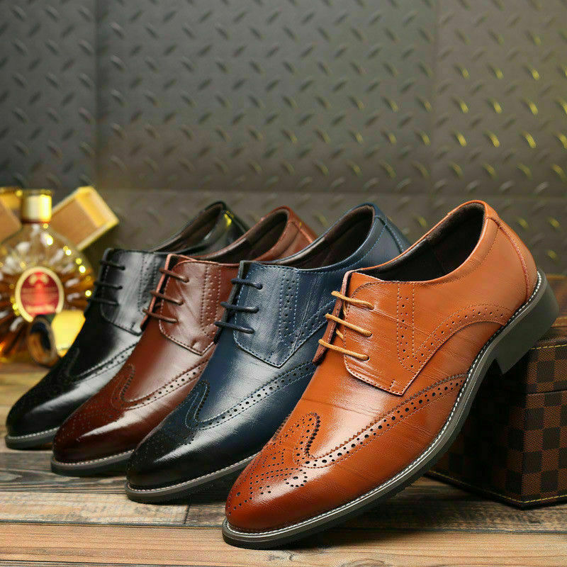 Herren Übergrößen Business Schnürer Halbschuhe Hochzeit Oxfords Schuhe Gr 39-48