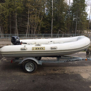 Titan Dinghy with 20 HP Yamaha Outboard engine
