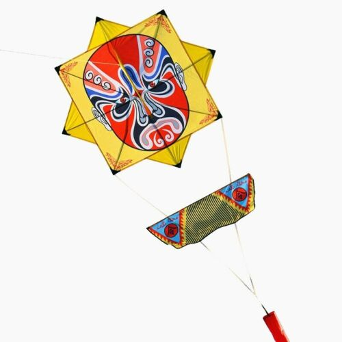 New Arrive Peking Opera KITE With Handle And Line Good Flying Outdoor Sport Gift