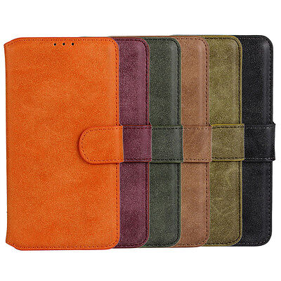 Best Used For Motorola Nexus 6 Scrub PU Leather Wallet Case Protector