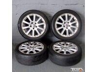 "17"" VW 10 Spoke Alloy Wheels will fit Audi A4, A3 MK2 MK3 VW Passat Jetta, Golf MK5, MK6, MK7, Caddy"