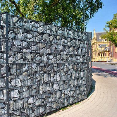 Bruchstein groß - Bedruckter Zaun Sichtschutz Streifen