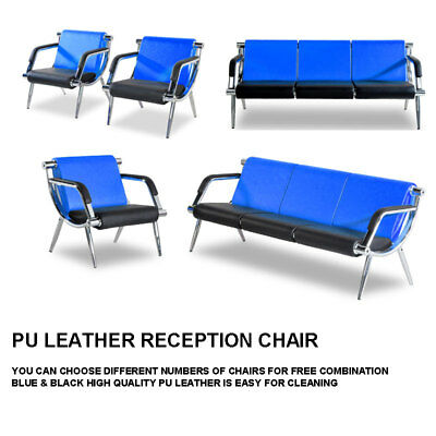 Leather Office Guest Chair - Waiting Room Chair Reception PU Leather Office Airport Bank Bench Guest Sofa
