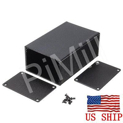 Aluminum Project Box Enclosure Case Electronic Diy 100x66x43mm Black Us Stock