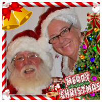 Santa - Real bearded with Mrs. Clause