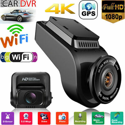 FHD 2160P Car DVR Dual Lens Dash Cam Camera Vehicle 4K GPS WiFi Video Recorder