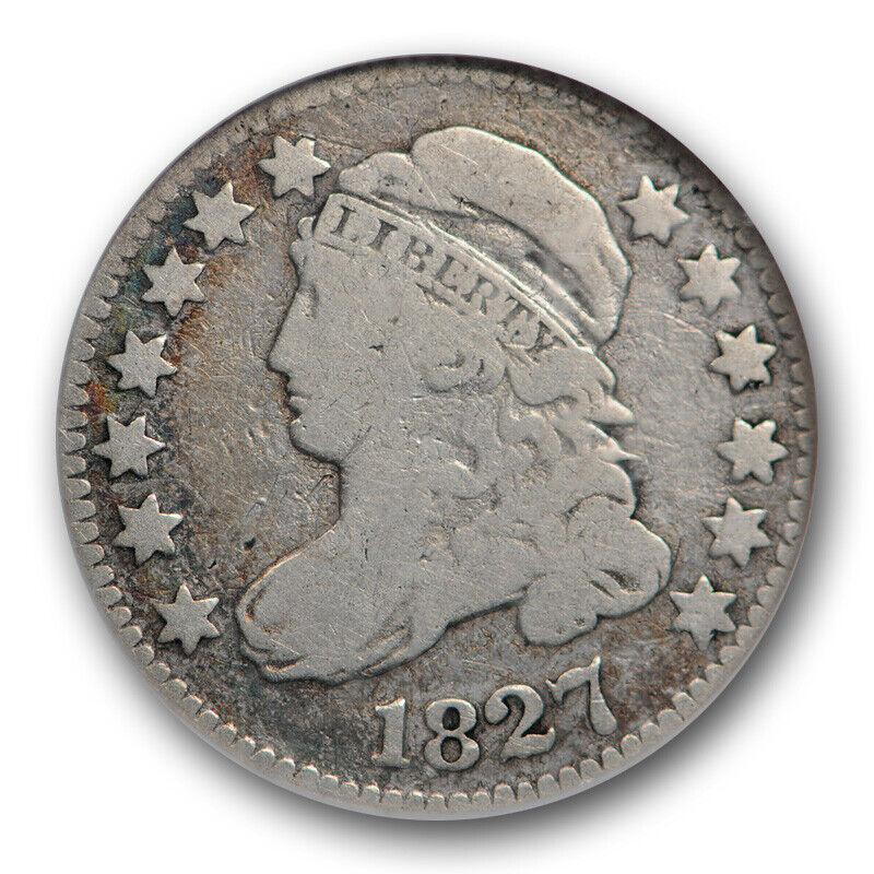 1827 10c Capped Bust Dime NGC VG 8 Very Good JR 12 Jules Reiver Collection Coin