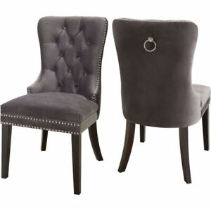 6 x Luxury Dining Chairs - Grey or Creme - Brand New in Box