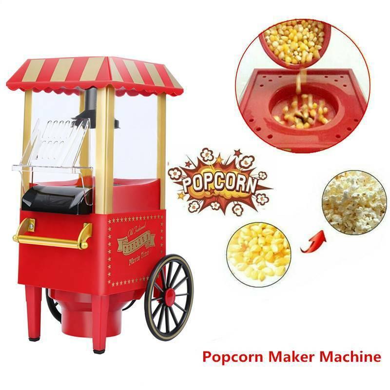 Electric Popcorn Maker Machine Air Pop Corn Making US Plug P