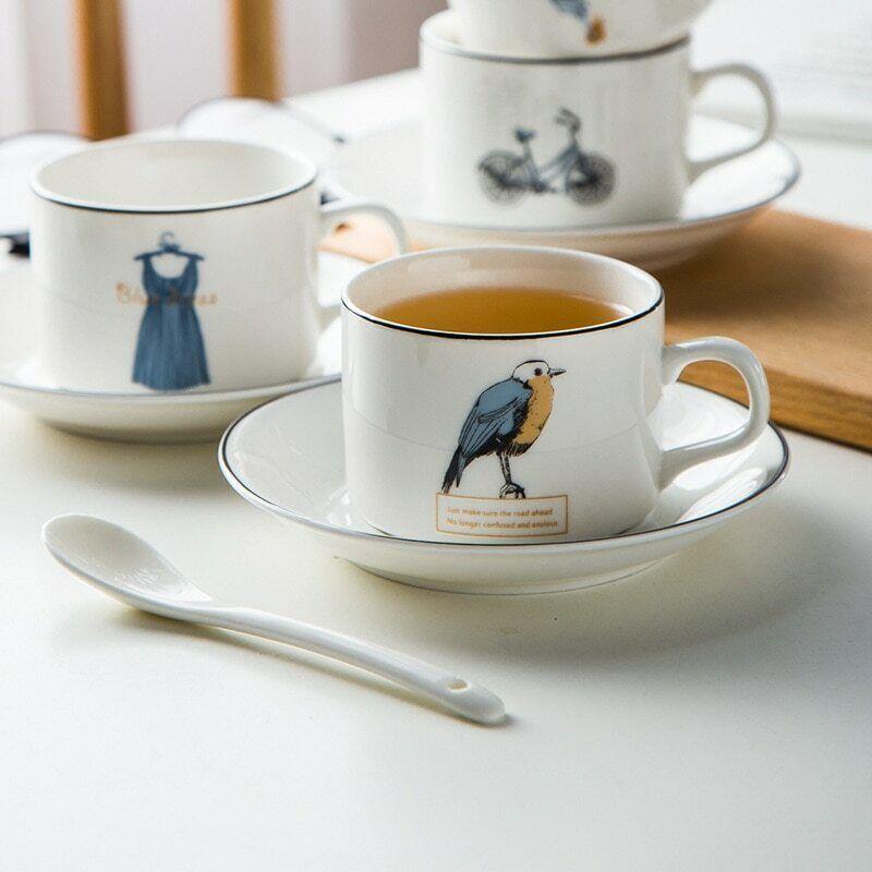 LOULONG® Design Light And Thin Teatime Afternoon Tea Cup Sa