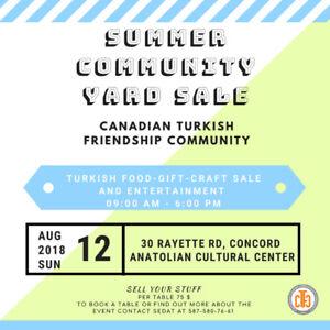 Community Yard, Garage Sale Sunday , August 12, 9am - 6pm,