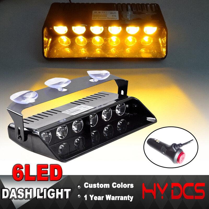 1 Pc 240 LED Magnetic Amber Yellow Emergency Truck Strobe Flash Light Warning zy