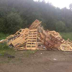 WOOD SKIDS - FREE Peterborough Peterborough Area image 1