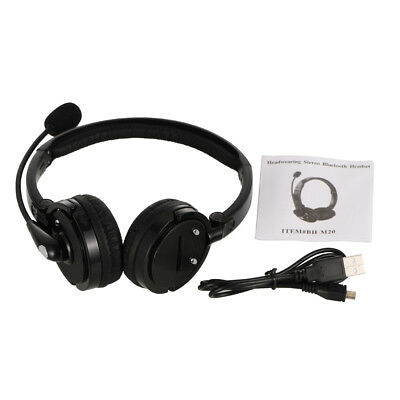 Over the Head Bluetooth Stereo Wireless Headphones Gaming Headset With Boom Mic