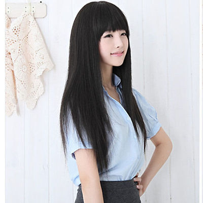 Fashion Long Straight Black Women's Girl Full Hair Cosplay/Party Wigs 25