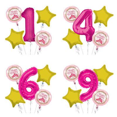 Twinkle Toes Ballerina 1-9 Birthday Balloon Bouquet 5 pcs Girls Birthday Party (Twinkle Birthday)