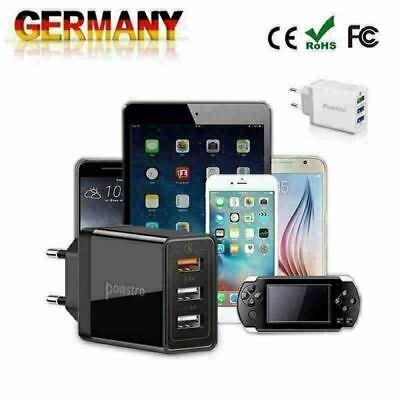 Powstro Wandladegerät USB Fast Charger Travel adapter Schnelles Ladegerät Kabel Iphone 3g Wand